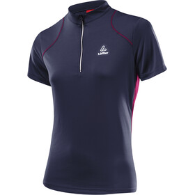 Löffler Pura Bike Shirt Half-Zip Damen graphite